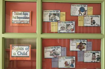 Impressive display of children's rights and responsibilities at the Quqshuun Ilihakvik Elementary School in Gjoa Haven!